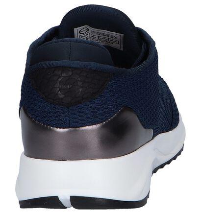 Woden Baskets basses en Bleu foncé en textile (240700)