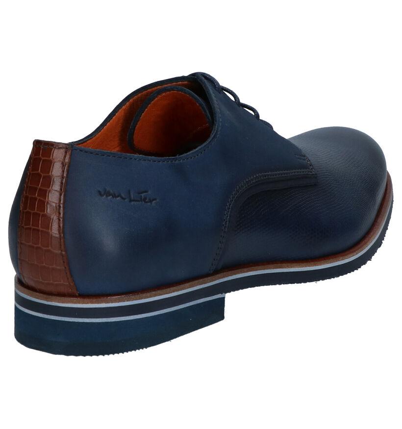 Van Lier Chaussures habillées en Bleu foncé en cuir (272962)