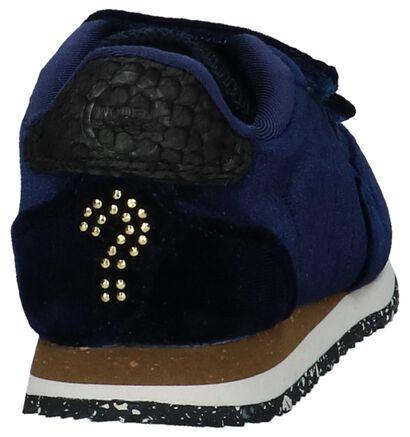 Woden Wonder Baskets basses en Bleu foncé en velours (222754)