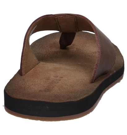 Timberland Tongs en Brun foncé en cuir (240760)
