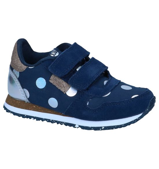 Donkerblauwe Lage Sneakers Woden Wonder Nora dot II