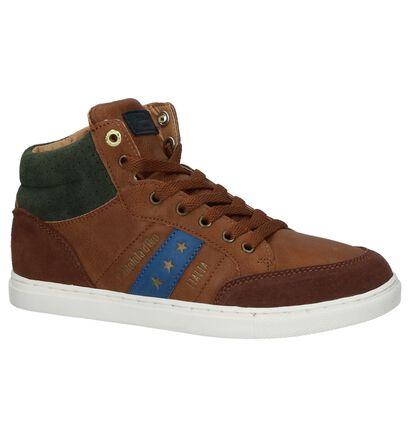 Pantofola d'Oro Baskets hautes en Cognac en cuir (224215)