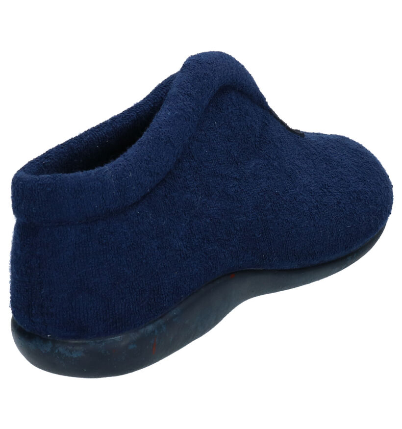 Hush Puppies Oisim Pantoufles en Bleu en textile (274888)