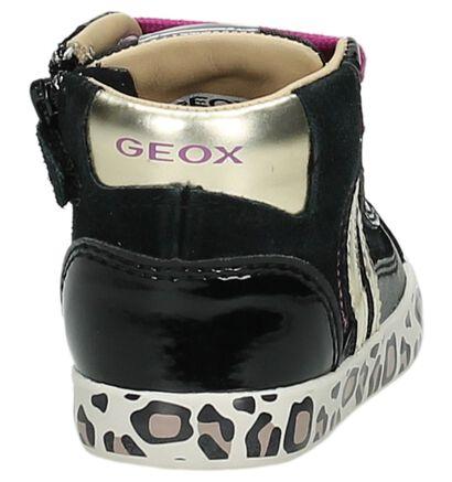 Geox Zwarte Babyschoentjes met Dierenprint, Zwart, pdp
