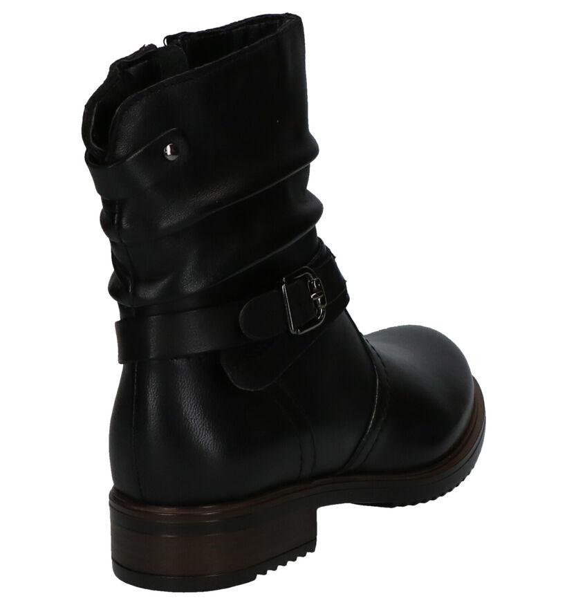 Loli Laly Masha Zwarte Korte Laarzen in leer (255030)
