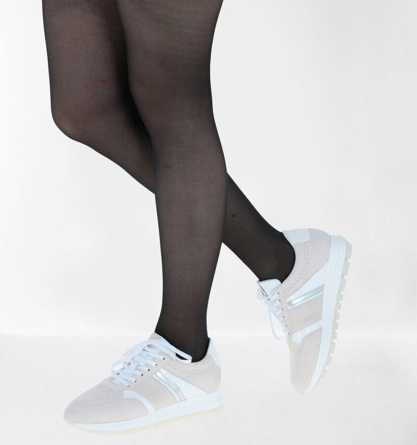 Tamaris Chaussures à lacets en Beige en simili cuir (286316)