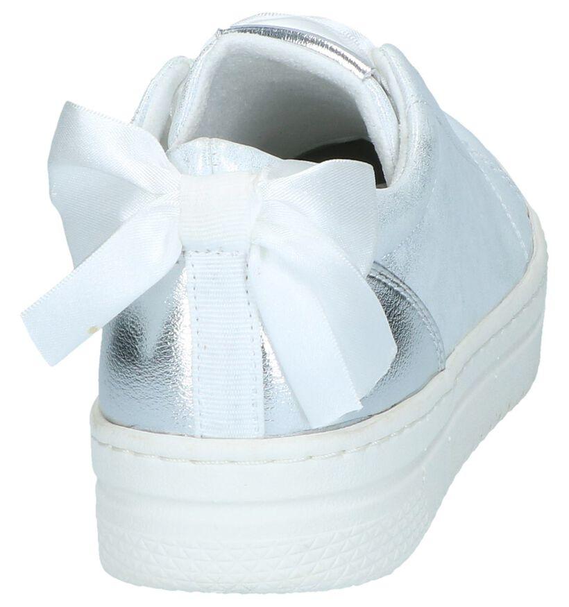 Marco Tozzi Chaussures à lacets en Argent en simili cuir (238106)