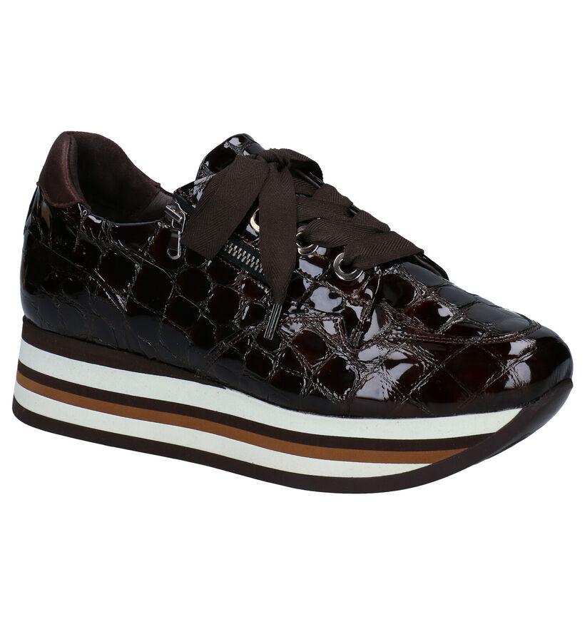 Softwaves Bruine Sneakers in leer (281979)
