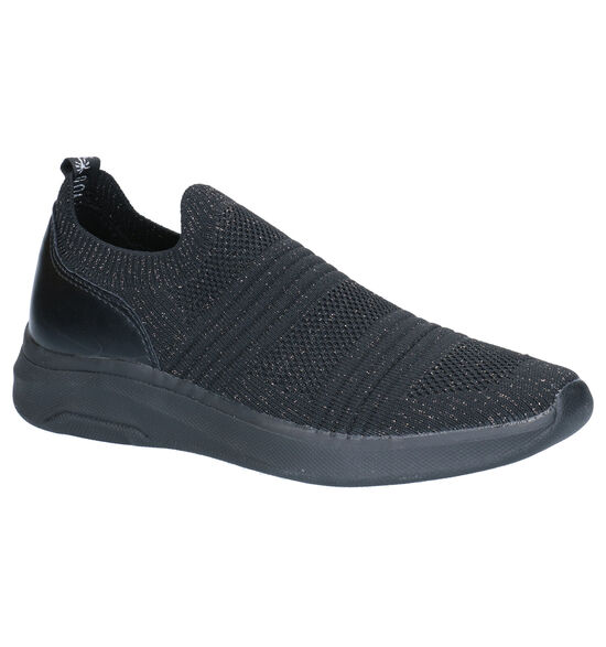Dazzle Zwarte Slip-on Sneakers