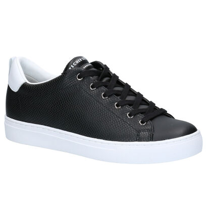 Skechers Side Street Zwarte Sneakers in leer (262846)