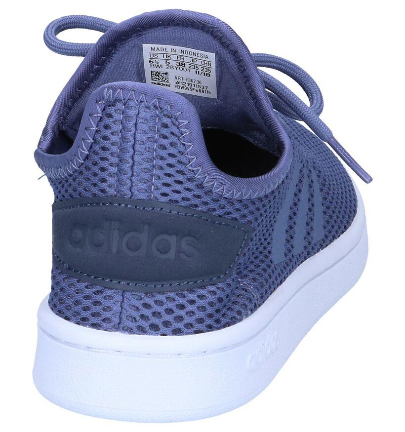 Witte Slip-on Sneakers Adidas Court Adapt in stof (237031)