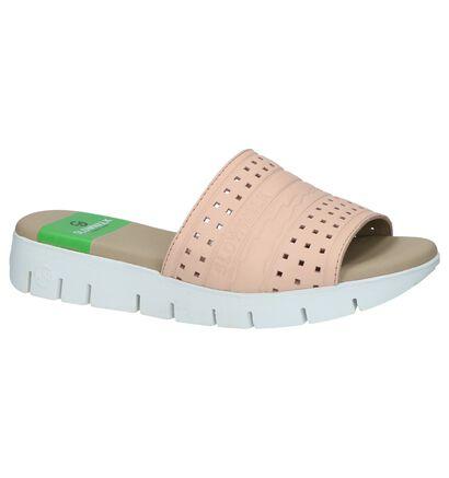 Slowwalk Nu-pieds à talons en Rose en cuir (221278)