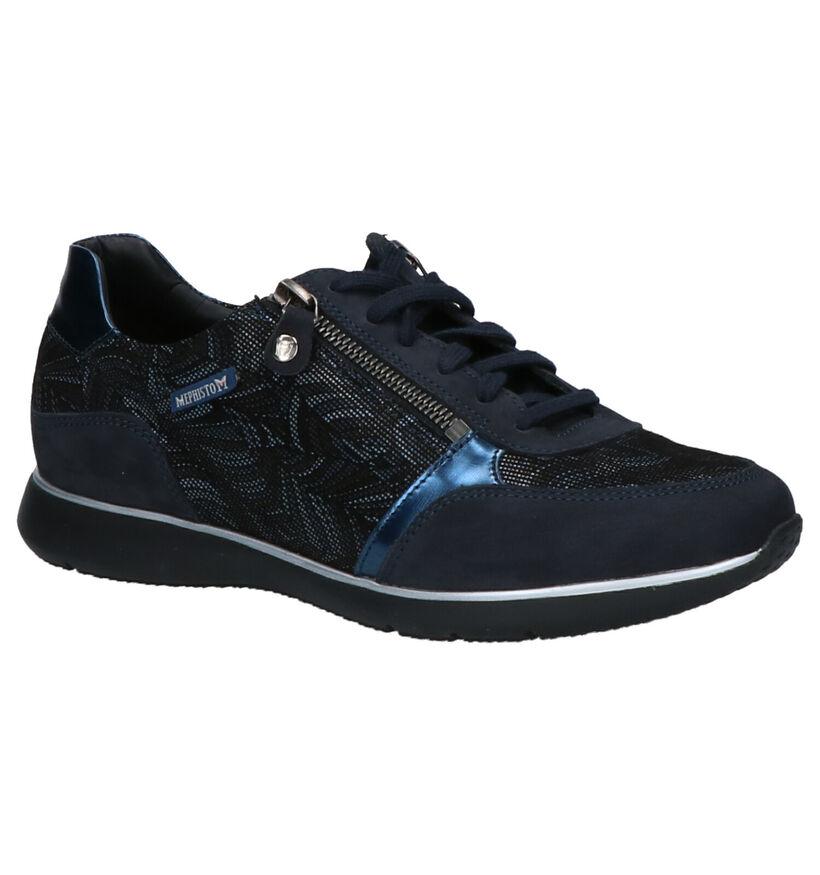 Mephisto Monia Chaussures basses en Bleu en nubuck (263836)