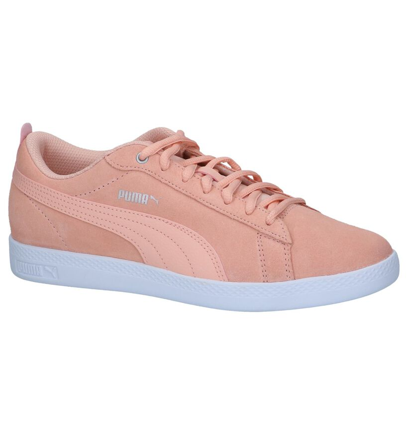 Zalmroze Sneakers Puma Smash in daim (239362)