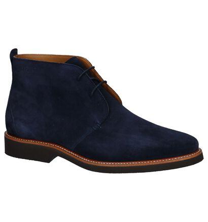 Sebago Chaussures hautes en Bleu foncé en daim (231376)