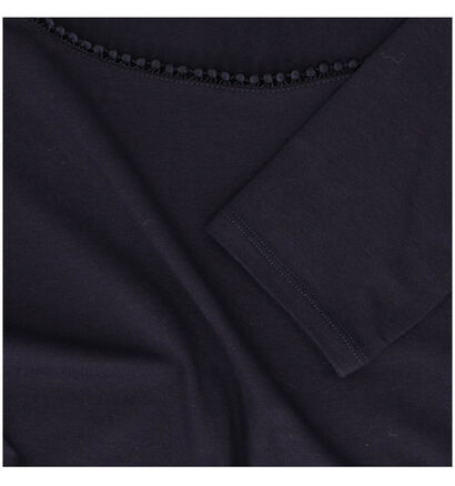 comma T-shirt manches longues en Bleu (278155)
