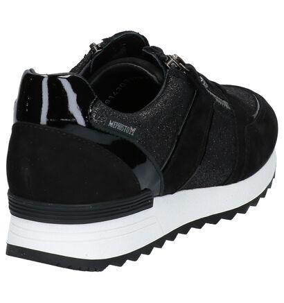 Mephisto Toscane Zwarte Sneakers in nubuck (259673)