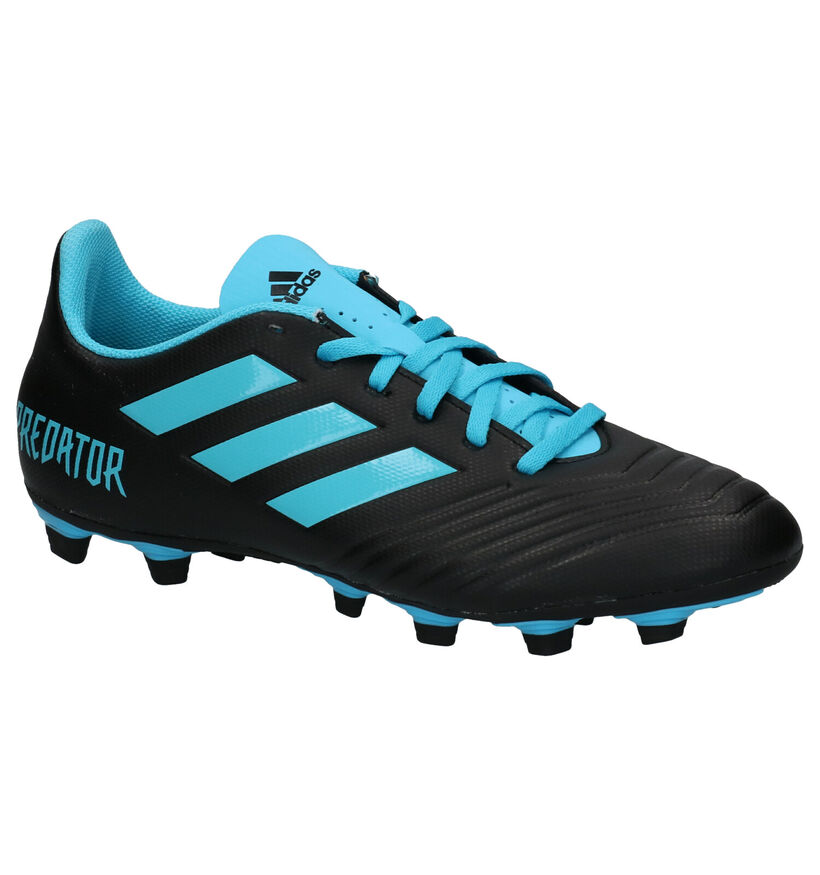 adidas Predator 19.4 Chaussures de foot en Bleu en simili cuir (252942)