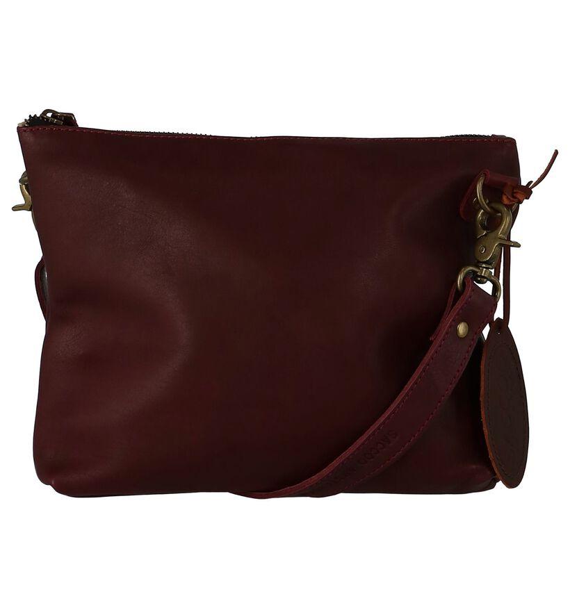 Saccoo Sacs porté croisé en Violet en cuir (234754)