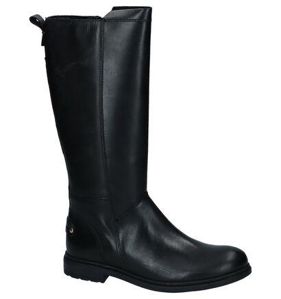 Zwarte Lange Laarzen Tommy Hilfiger in leer (225889)