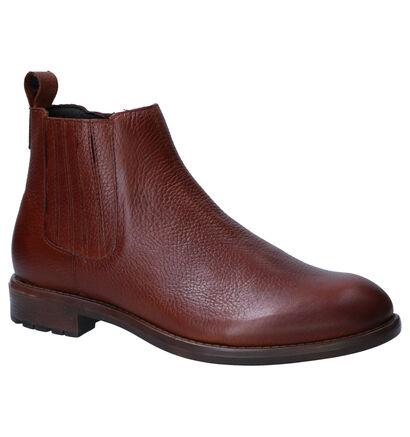 Borgo Sport Zanuu Boots en Cognac en cuir (263257)