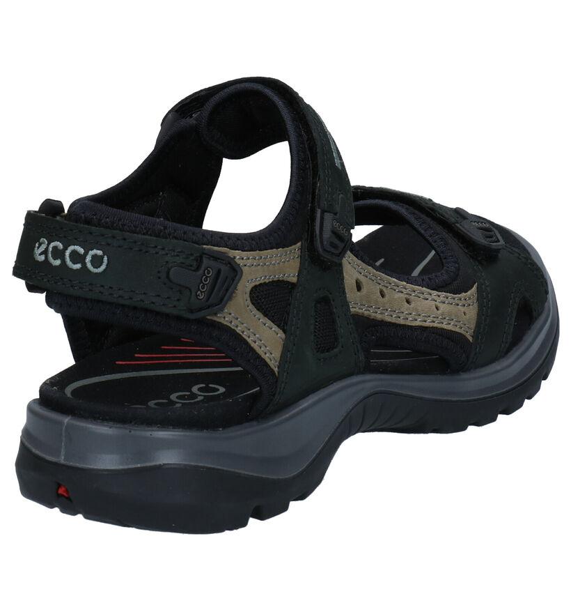 ECCO Sandales plates en Noir en nubuck (269712)