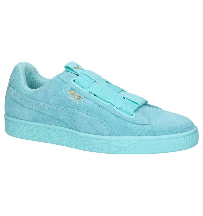 Puma Baskets slip-on en Turquoise en daim (209951)