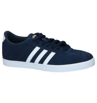 adidas Courtset Zwarte Sneakers in kunstleer (252567)