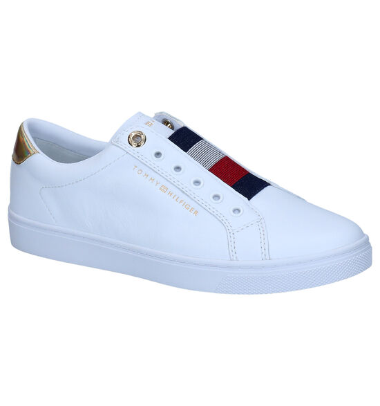 Tommy Hilfiger Elastic Witte Instappers