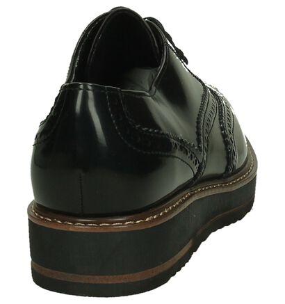 Marco Tozzi Chaussures à lacets en Noir en imitation cuir (200010)
