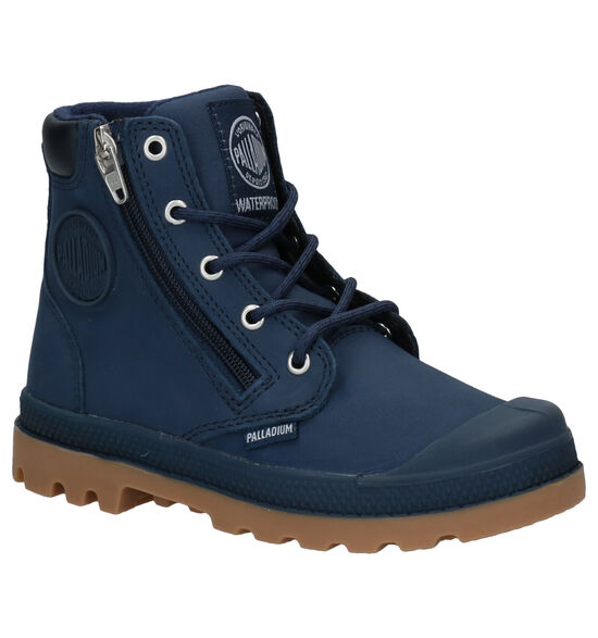 Palladium Pampa Hight Cuff Blauwe Boots
