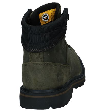 Caterpillar Exigent Olijfgroene Bottines in daim (225469)