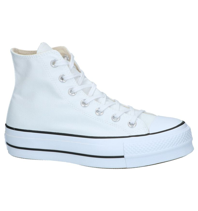 Converse AS Lift HI Witte Sneakers in stof (266480)