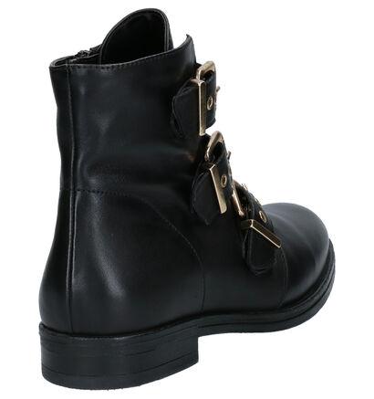 Hampton Bays 2 DAY Zwarte Boots in leer (253809)