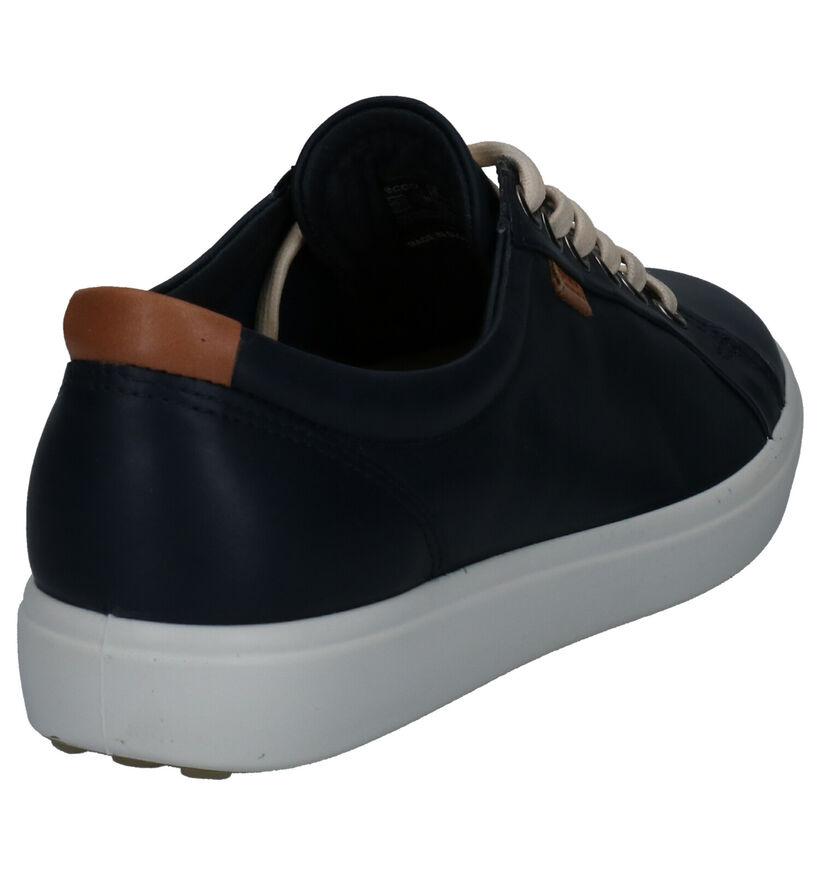 ECCO Soft 7 Chaussures à lacets en Jaune ocre en nubuck (275316)