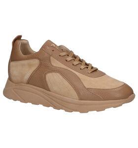 March23 Leighton Chaussures à lacets en Cognac en cuir (283273)