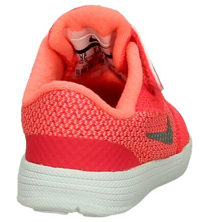 Nike Revolution Baskets basses en Rose en textile (198114)