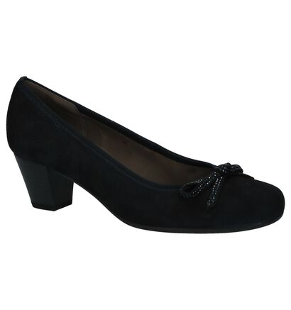 Donkerblauwe Pumps Gabor Soft and Smart in daim (231105)
