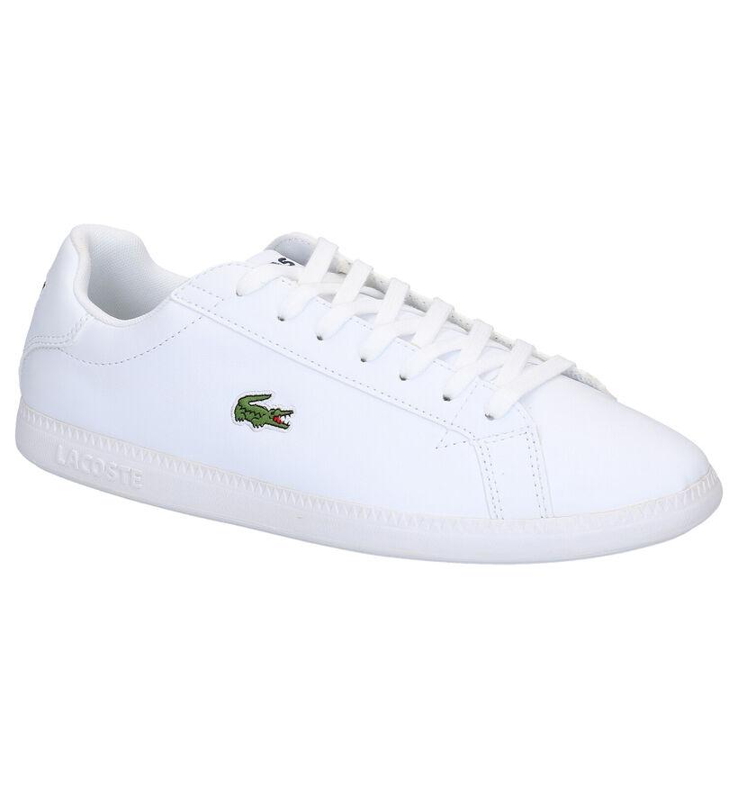 Lacoste Graduate Witte Sneakers in leer (266946)