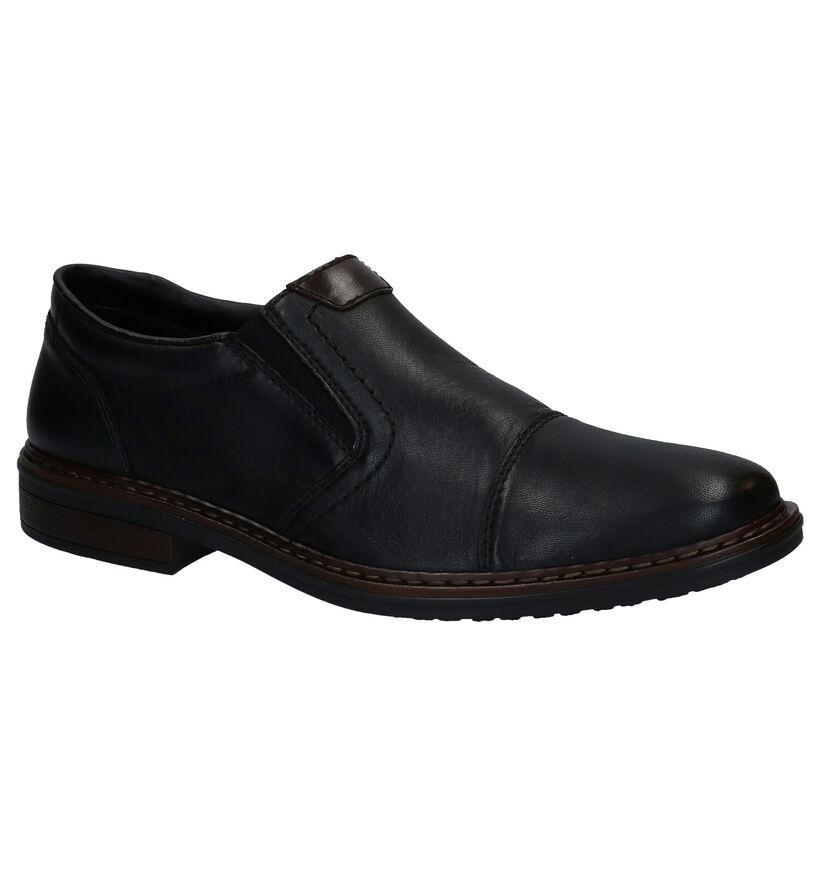 Rieker Chaussures slip-on en Noir en cuir (277692)