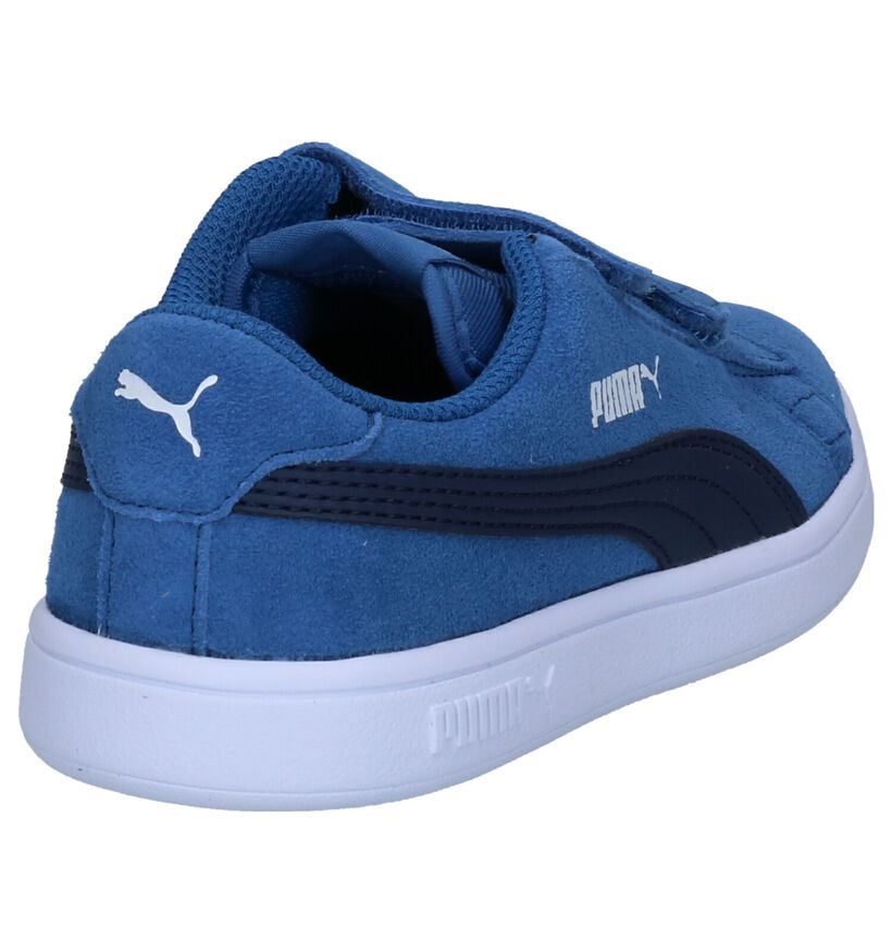 Puma Smash Baskets en Bleu en daim (265627)