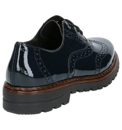 Rieker Chaussures à lacets en Bleu foncé en cuir (260567)
