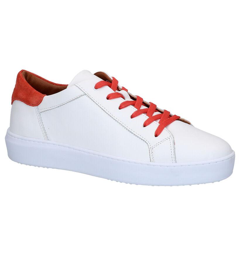 Hampton Bays Maras Chaussures à Lacets en Blanc en cuir (266414)