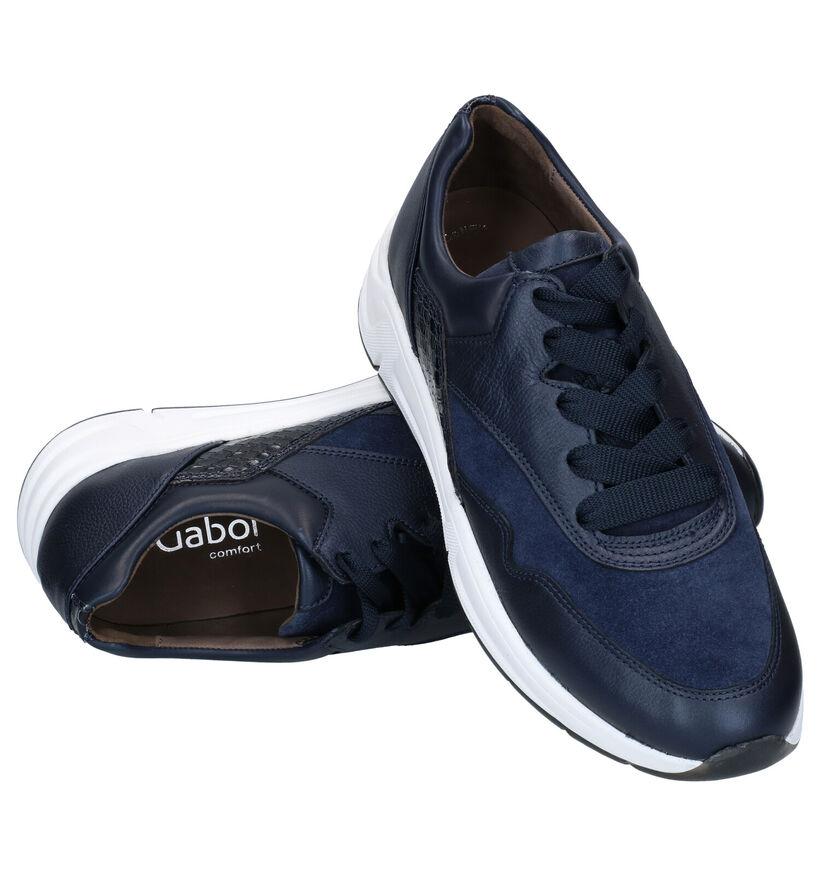 Gabor OptiFit Baskets en Bleu en cuir (282388)