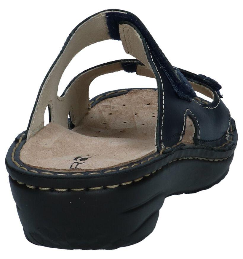 Zwarte Comfortabele Slippers Rohde in leer (250634)