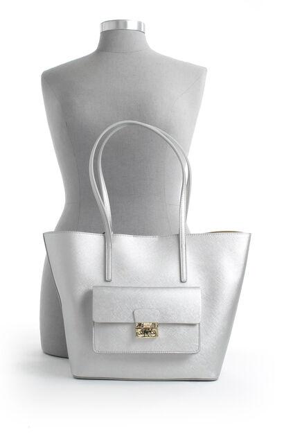 Zilveren Shopper Tas Kisses Of Pearl, Zilver, pdp