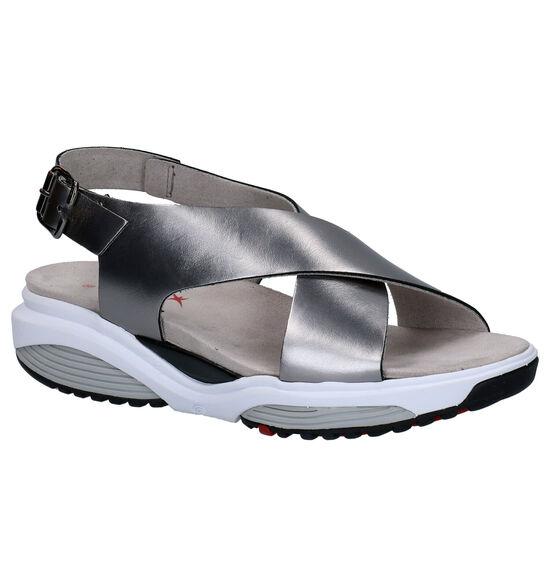 Zilveren Comfortabele Sandalen Xsensible Corfu
