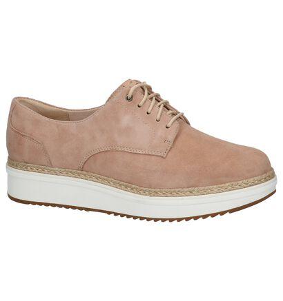 Clarks Chaussures à lacets en Rose en daim (213487)