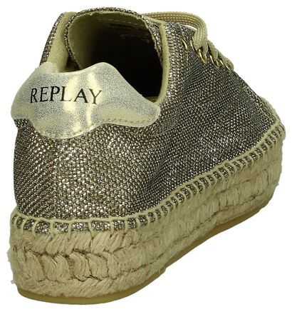 Replay Chaussures à lacets en Or en textile (193221)