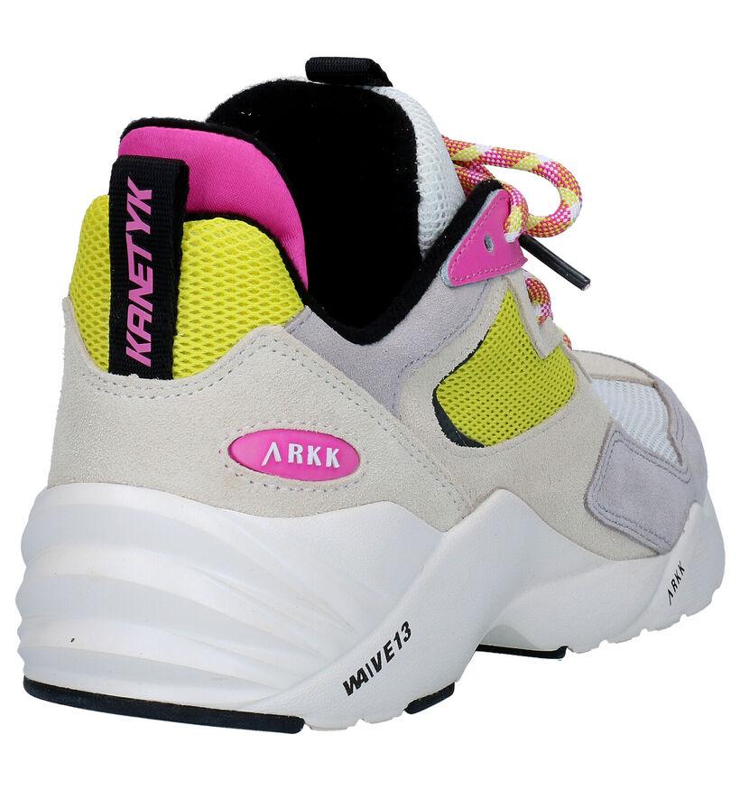 Arkk Kanetyk Beige Sneakers in kunstleer (275868)